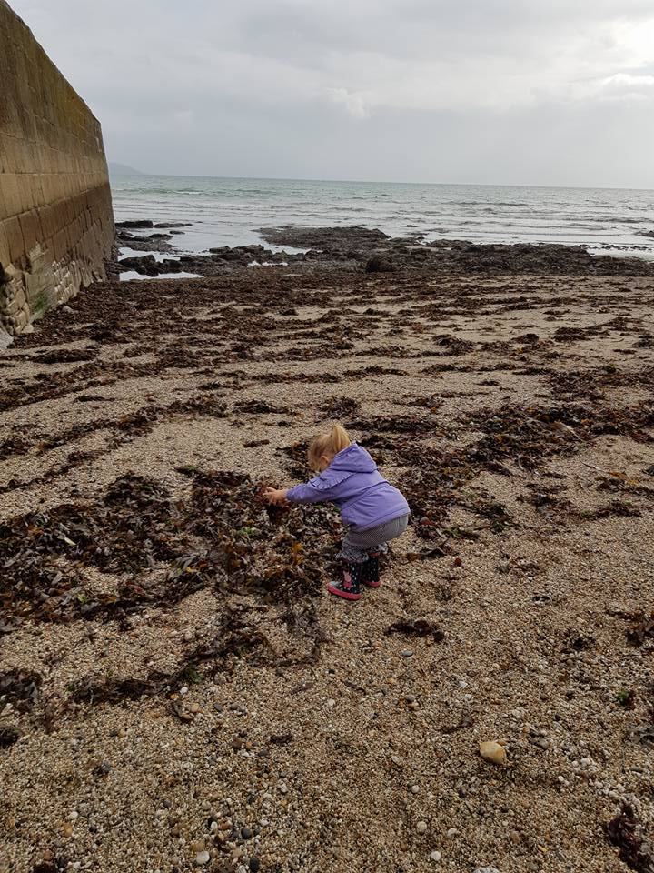 Shaniah wasn't sure on the seaweed