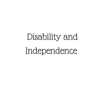 disability and independence
