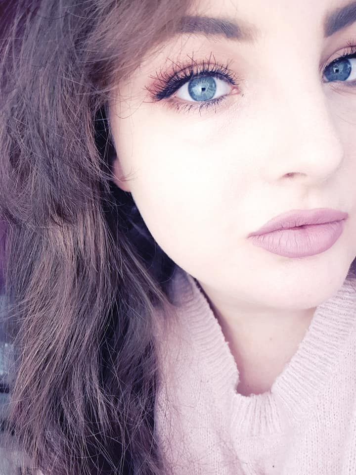 myself wearing wispy eyelashes