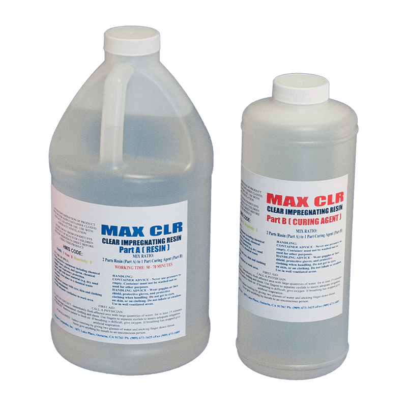MAX CLR 96 OZ  - EPOXY RESIN FOOD SAFE FDA COMPLIANT VERY CLEAR HIGH IMPACT  COATING - The Epoxy Experts
