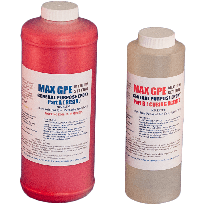MAX GPE RED 48oz. - EPOXY RESIN RED COATING GEL COAT REPAIR - The Epoxy  Experts