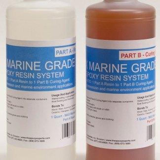 Max Marine Grade Epoxy Resin System 1 2 Gallon Kit Wood Sealing High Strength Fiberglassing Marine Applications Composite Fabricating Resin