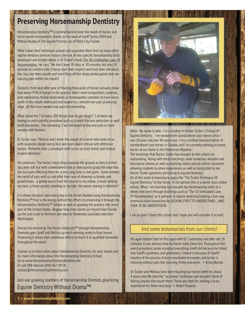 The Equine Practice Rounds™ Vol 1 Issue 1 page 2 of 4