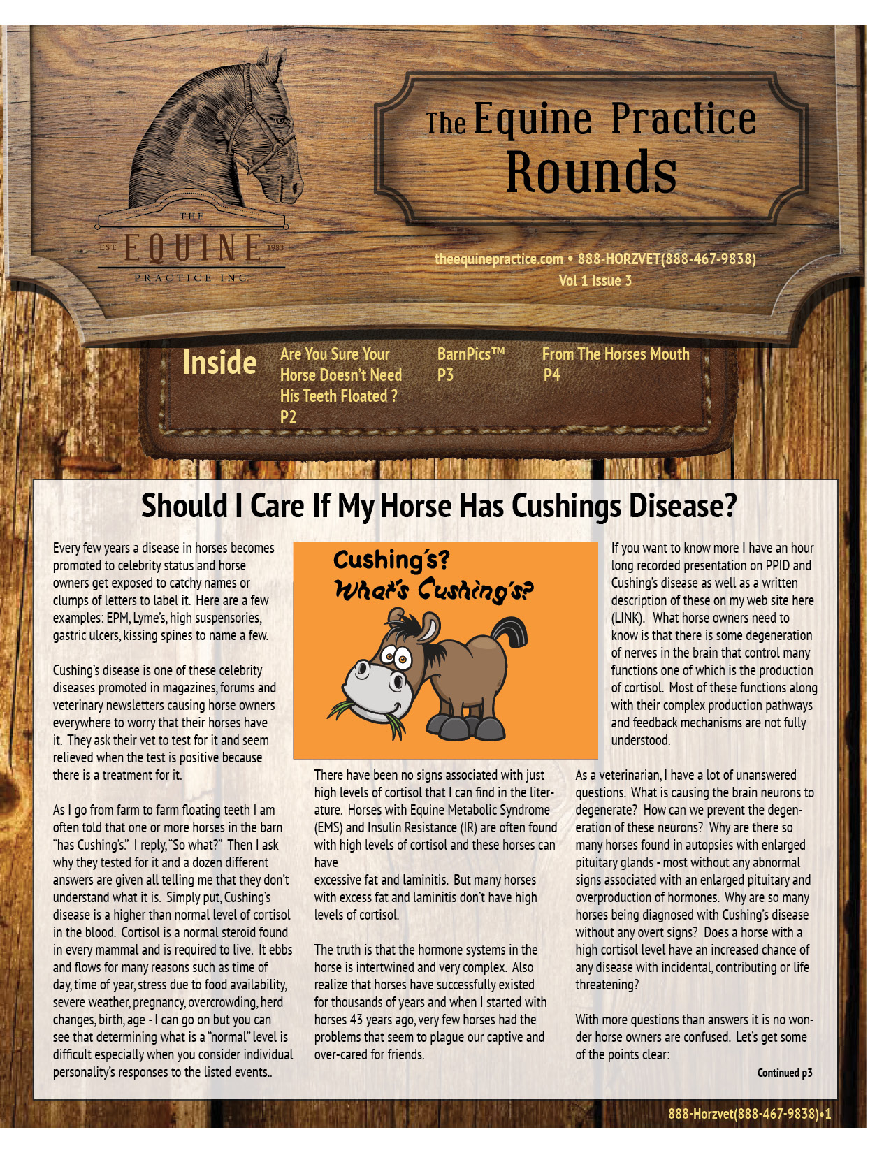 The Equine Practice Rounds™ Vol 1 Issue 3 page 1 of 4
