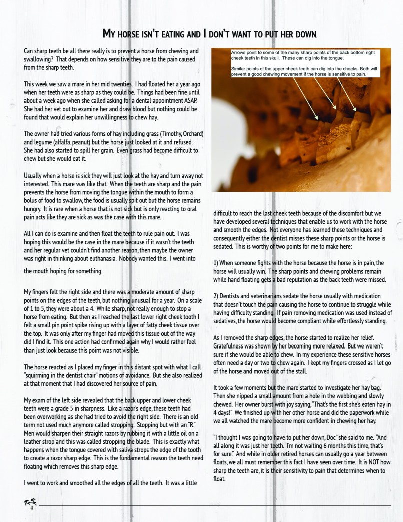 The Equine Practice Inc, The Equine Practice Rounds Vol 2 Issue 1 page 4