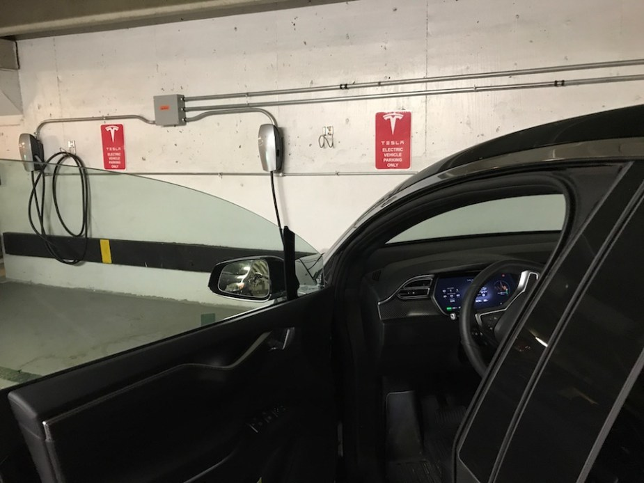 Tesla guest chargers