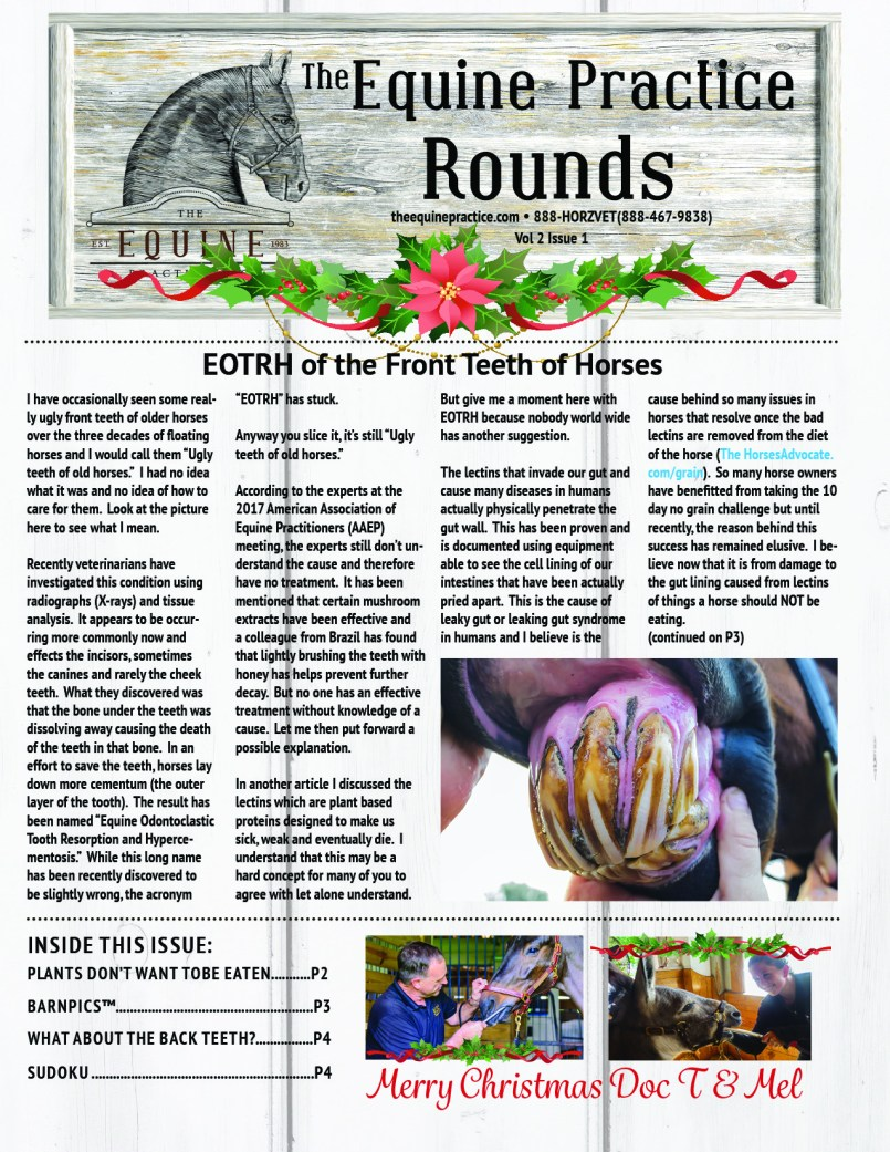 The Equine Practice Rounds™ Vol 2 Issue 2  page 1 of 5