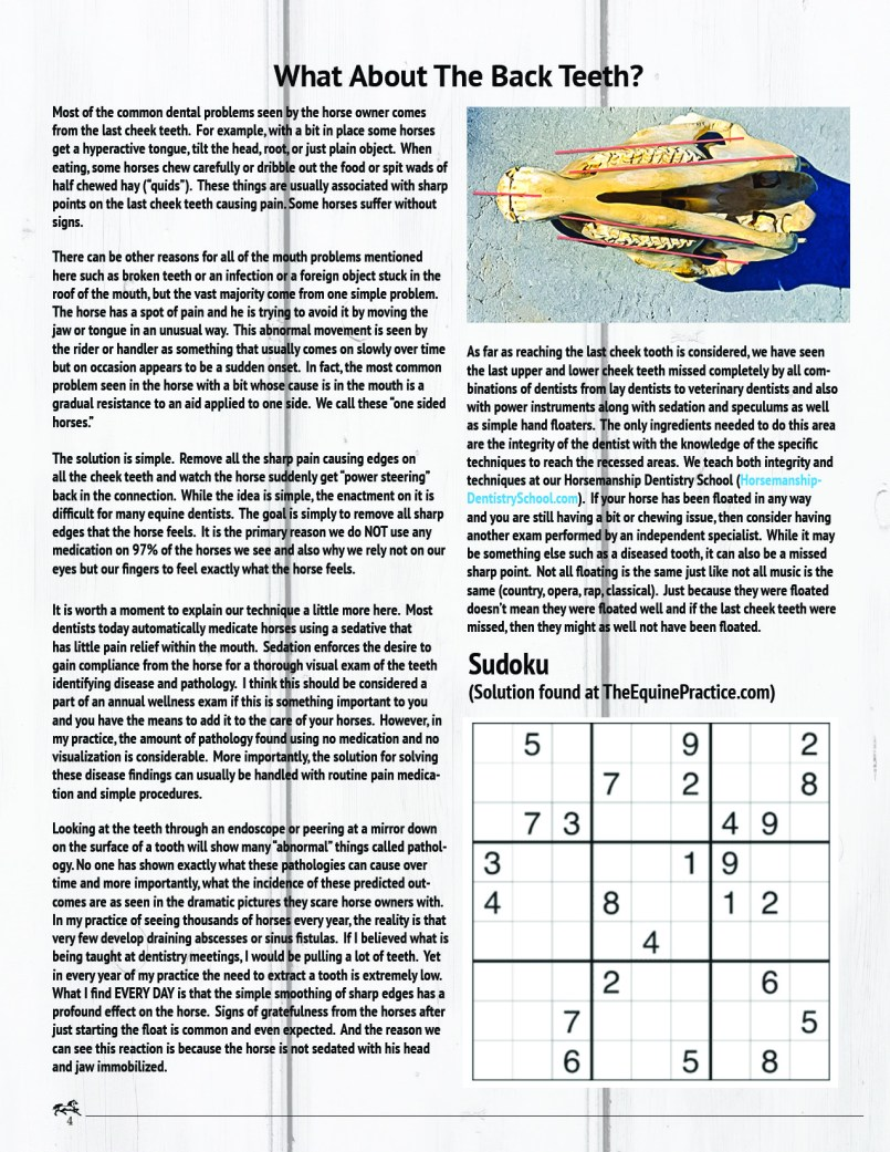 The Equine Practice Rounds™ Vol 2 Issue 2  page 4 of 5