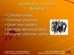 Sample slide 11, Training kit, why