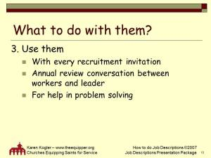 Sample slide 13, Job Descr kit, how