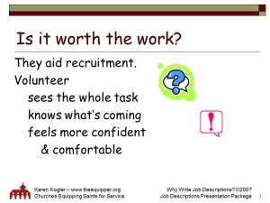 Sample slide 3, Job Descr kit, why
