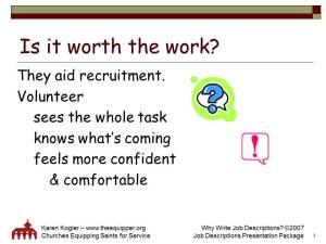 Sample slide 3, Job Descr kit, why
