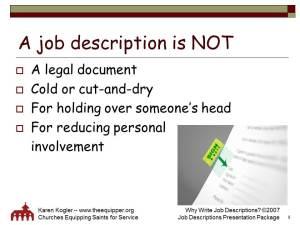 Sample slide 8, Job Descr kit, why