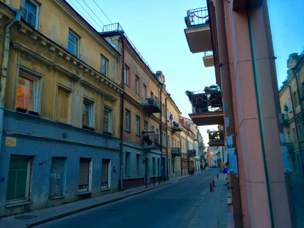 One of the street views from Vilnius, Lithuania