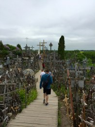 the Hill of Crosses in northern Lithuania is a pilgrimage for many. Here's a link for more info—definitely a sobering site. https://en.wikipedia.org/wiki/Hill_of_Crosses