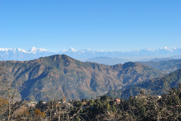 Part of the Himalayan Range in distant view