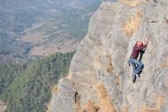 Climbing at Mukteshwar Cliff (Chauthi ki Jali)