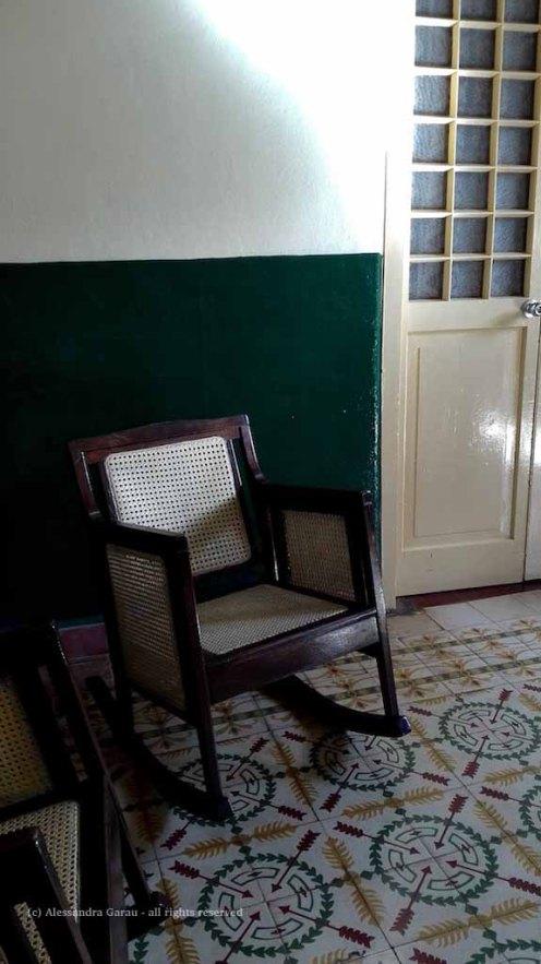 Hostal Buen Viaje: sedia a dondolo