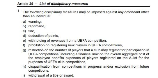 ffp disciplinary measures