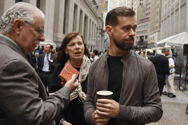 Jack Dorsey wears a Rick Owens Leather Jacket to the Square IPO (PHOTO VIA Newsweek