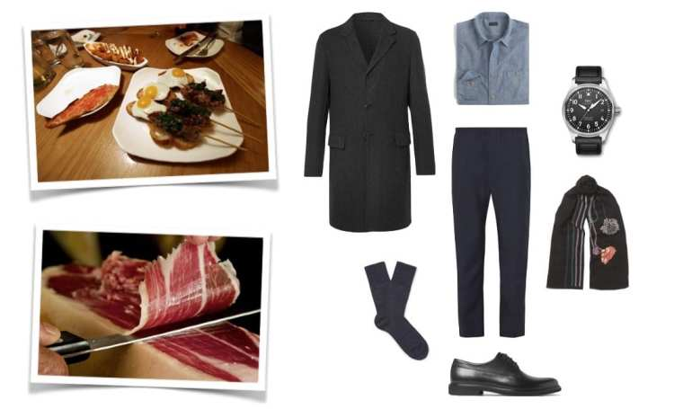 Dinner date look for men