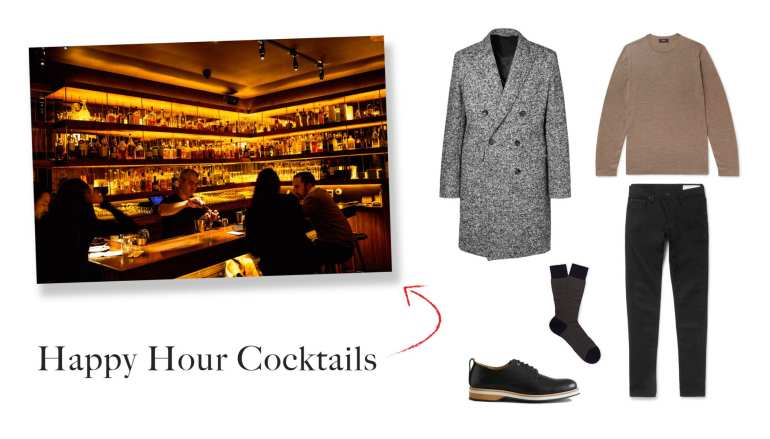 Happy Hour Cocktail Outfit Idea for Men