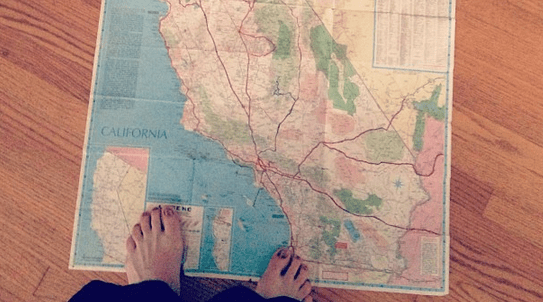 California Travel Map Betsy Moyer