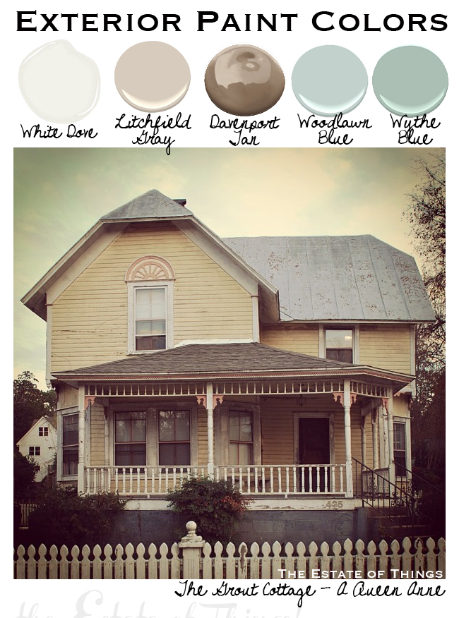 The Grout Cottage Exterior Paint Colors The Estate of Things