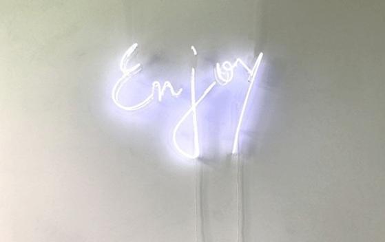 enjoy neon sign
