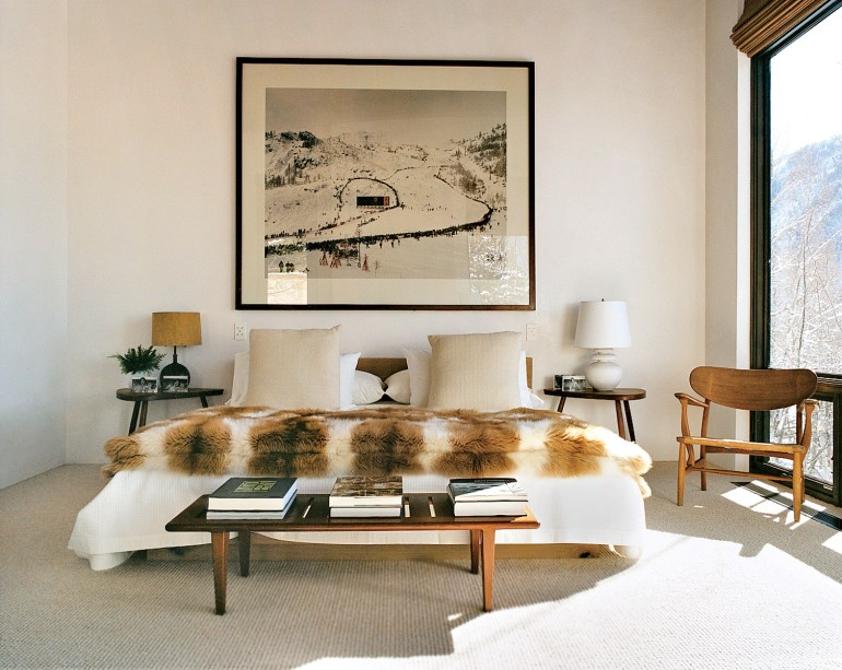 Aerin Lauder Vogue Aspen Home Lumbersexual