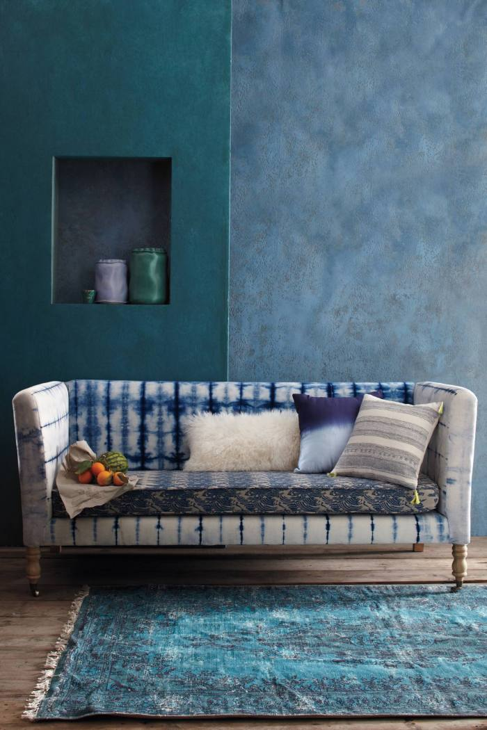 Anthropologie tie dye couch