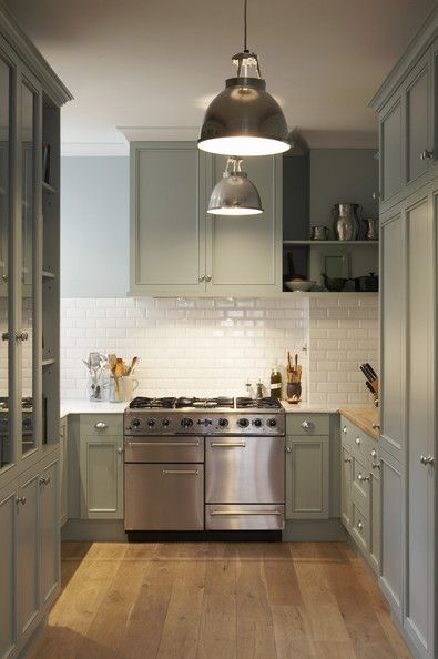 Tall Green Kitchen Cabinets