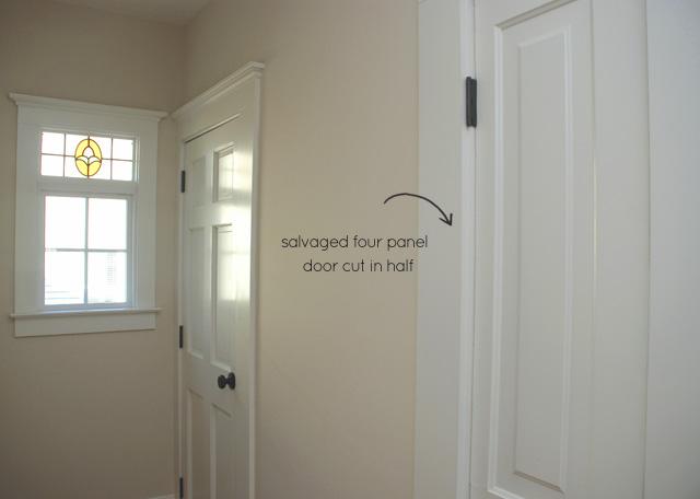 grout Apt A hall linen closet