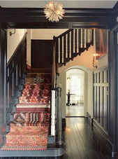 kilim covered stair runner