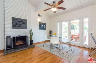 Fireplace in Breakfast Dining Area