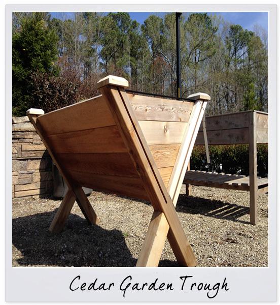 cedar garden trough