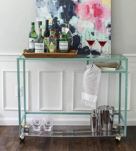 ikea style me pretty bar cart
