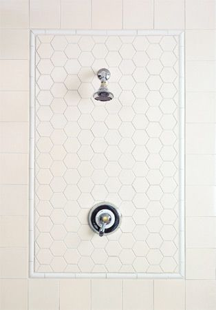 tile shower accent