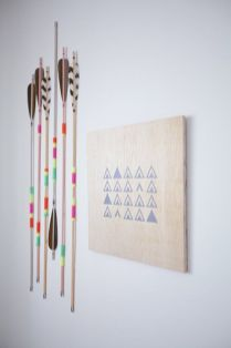 vintage arrows on the wall