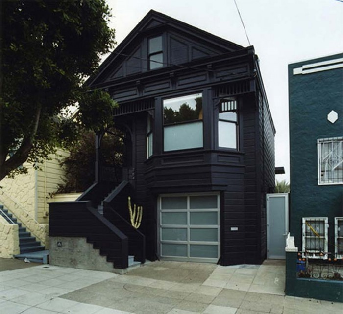 A black house exterior victorian