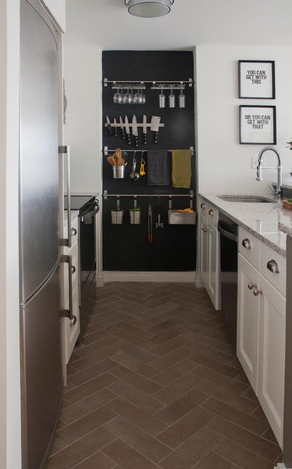 Kitchen Pot Rails rail galley kitchen