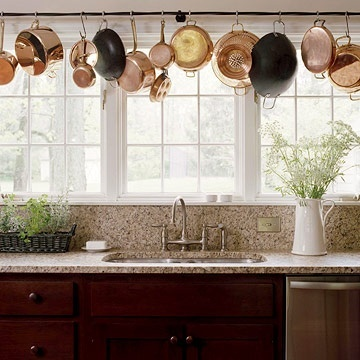 Kitchen Pot Rails - over sink