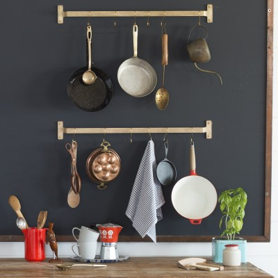 Kitchen Pot Rails schoolhouse