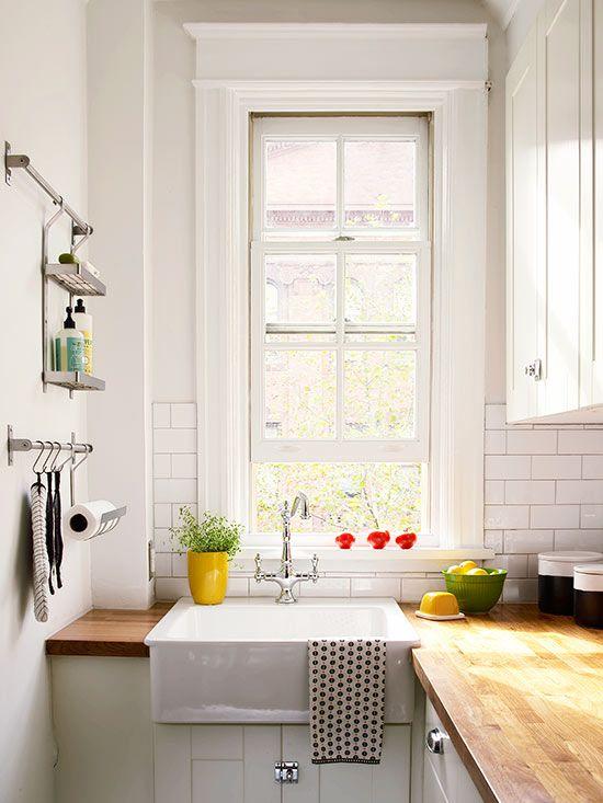 Kitchen Pot Rails small kitchen