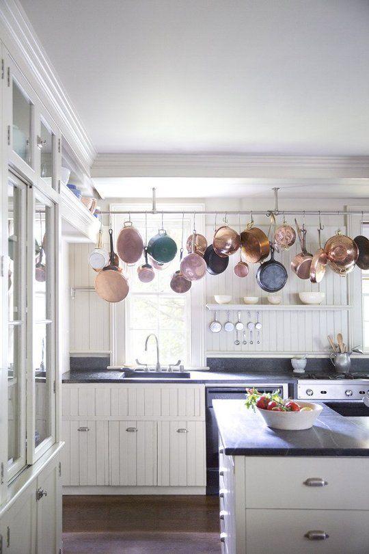 Decor Ideas For Your Kitchen Pot Rails