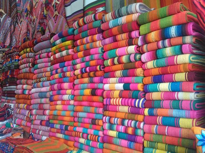 Frazada stack at market