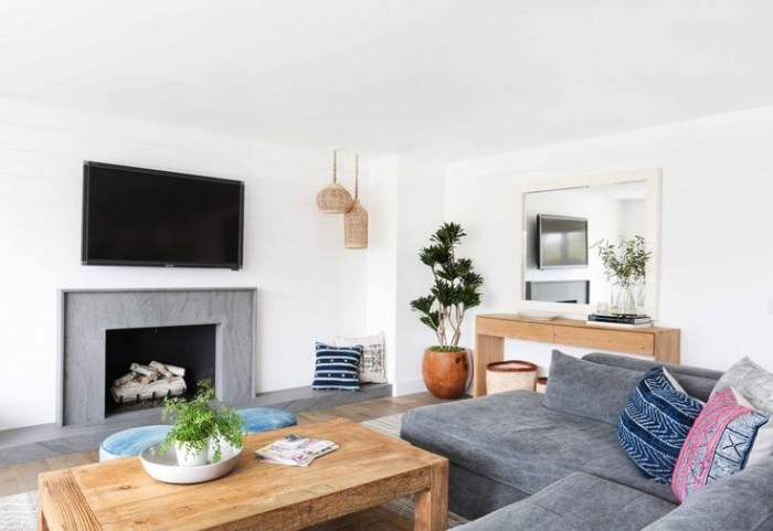 denim sofa by amber interiors