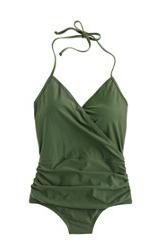 jcrew green swim suit