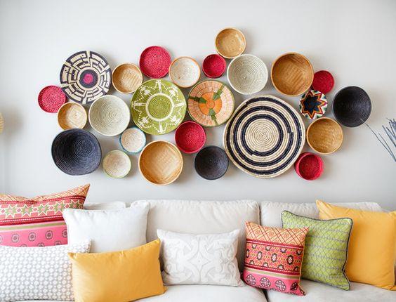 eathiopian Wall of Baskets closeup