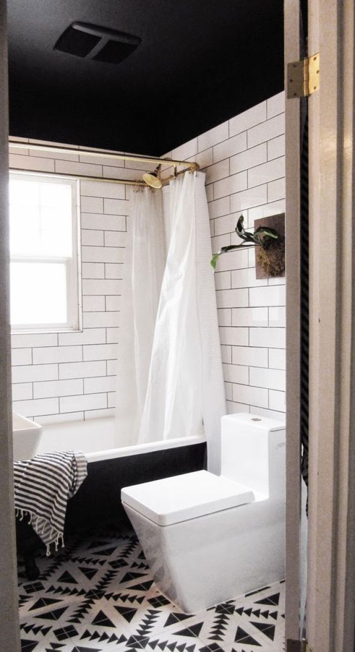 Black Ceilings Capree Kimball's Bathroom Makeover